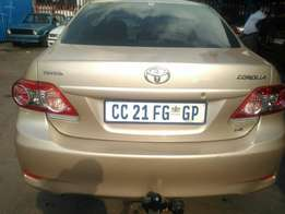 Very clean toyota corrolla 2013 model for R120000