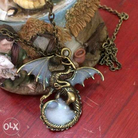 Game Of Thrones Luminous Dragon Chain Pendant Necklace Gothic Vintage Nairobi CBD - image 6