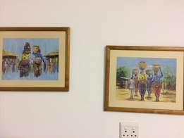 Small framed Paintings - African ladies