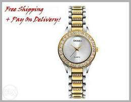 Women's Golden Watch - FREE Shipping + Payment On Delivery