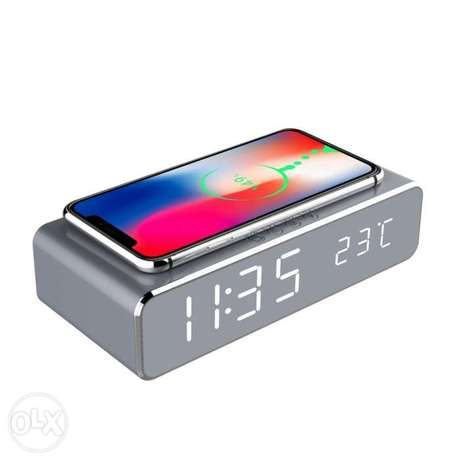 Wireless charger digital clock
