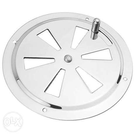 Round Air Louver Vent & Side Knob Opening Grille Cover Marine Boat RV