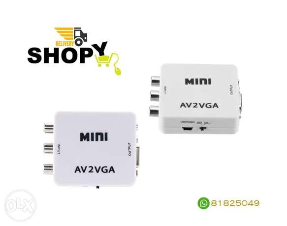 Mini AV2VGA Video Converter With Audio