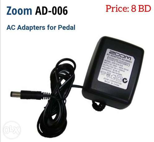 Zoom AD-0006G 9v DC 300mA Power Supply for pedals now available