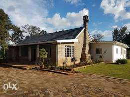 Newly refurbished colonial bungalow for rent along kamiti road