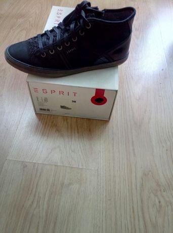 49df4c3ed23be Esprit nowe buty 38 damskie czarne trampki sneakersy tenisówki półbuty  Kraków - image 1