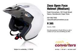 Zeus Open Face Helmet (Medium)