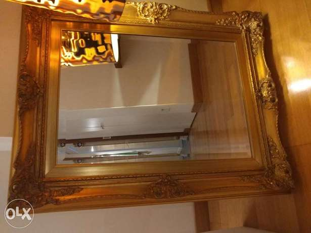 Gold laquered mirror