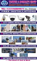 Free Installations Promo: CCTV, Solar, Satellite, Network Engineeing