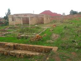 Aplot of 100x100fts with a shell house for sale at 85m in seta rumuli