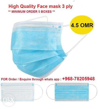 Face mask 3ply High quality approved