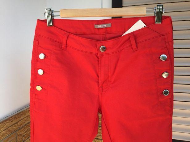 02985c1b Długie czerwone spodnie od ORSAY w rozm. 40 Kraków Bronowice • OLX.pl
