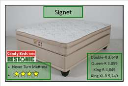 Restonic Signet Queen set at factory low prices