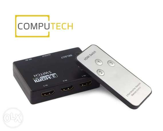 3-Port HDMI 1080p Switch/Splitter with Remote + iR Extension