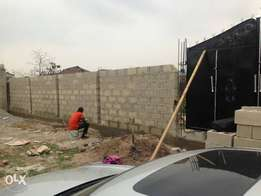 1 fenced plot of land in a residential environment