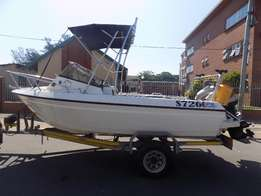 swift 165 on trailer 2 x 60 hp mariner big foots low hours