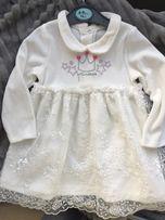 033915eea651f6 Дитяче біле плаття з мереживом 74см