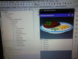 Android Menu Ordering System -University Project