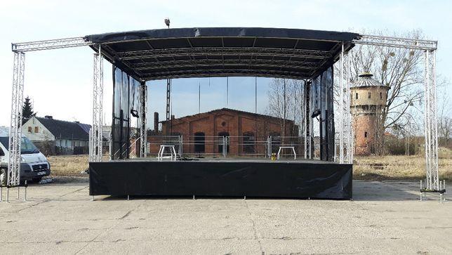 Topnotch Scena 8x6 Nagłośnienie Oświetlenie Agregat Wynajem Obsługa Poznań JE18