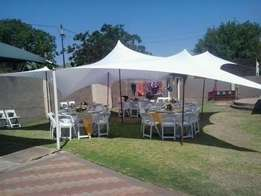 stretch tents,ottomans,marquees,tables,chairs,linen,tiffany for hire
