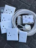 Electrical Sockets, CBi E/L Electrical Breaker and Extension Lead