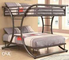 Smart metallic double bed on sale