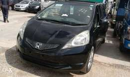 Black Honda fit 2010