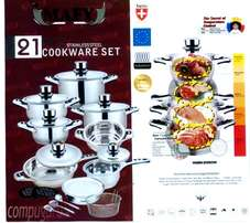New Swiss Brand Mafy 7 Layer 21 Piece Pot Set
