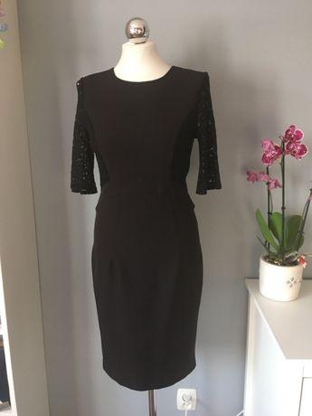 a385aa43df Orsay czarna sukienka z koronka dopasowana klasyczna S Bydgoszcz - image 2