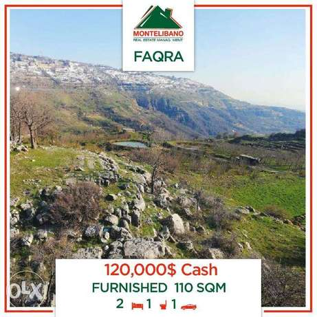 Furnished Chalet for sale in Faqra!