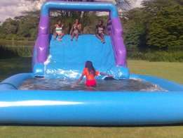 Hire bouncing castles, water slides, candy floss, star jump,trampoline