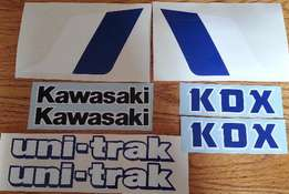Kawasaki KDX 200 graphics set - 1983 designs