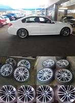 BMW F30 19 Inch Msport mags with tyres