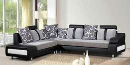 Neat black sofa order now and get in one week