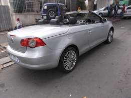 2008 vw eos 2.0 fsi convertible silver color 2doors 172000km R100000