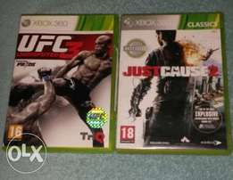 Original xbox 360 Ufc 3 and just cause 2 games both for R200