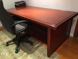 Beautful rosewood finish desk and cabinet