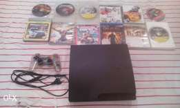 PS 3 console- 320gb,control,12 games