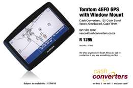 Tomtom 4EFO GPS with Window Mount