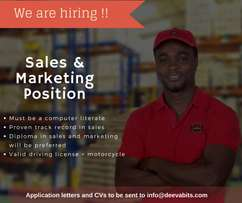 Sales and marketing opportunity