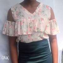 flower pink top made in nigeria