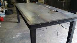 Brand new steel table