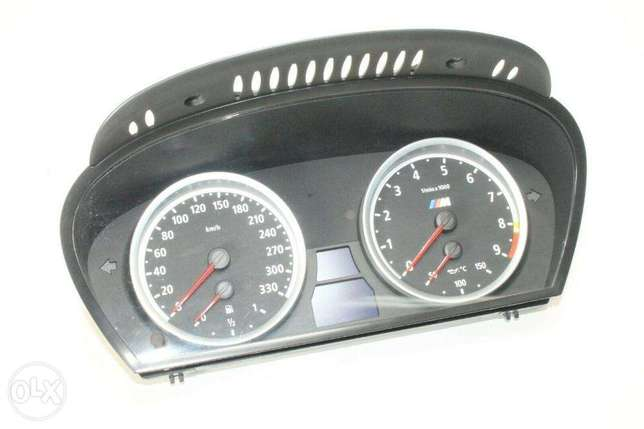 M PARTS BMW E60 5 SERIES M5 km/H cluster M3 E90 E92 M3 consol leather