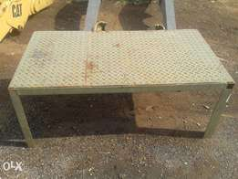 Steel tables marked down for fast sale. URGENT