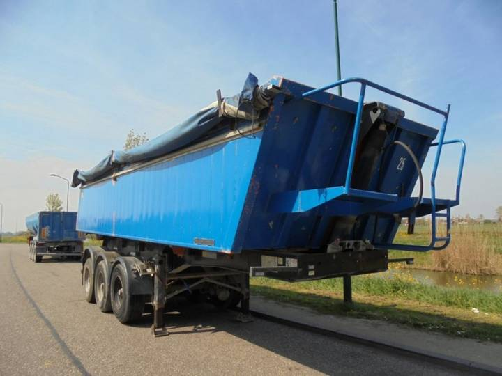 Meiller 3-Axle Tipper / 30 m3 / Steel Chassis-Auu Box / BPW Alxes / - 2003
