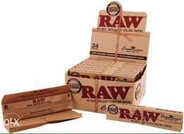 RAW Connoisseur King Size Slim Rolling Papers + Tips .
