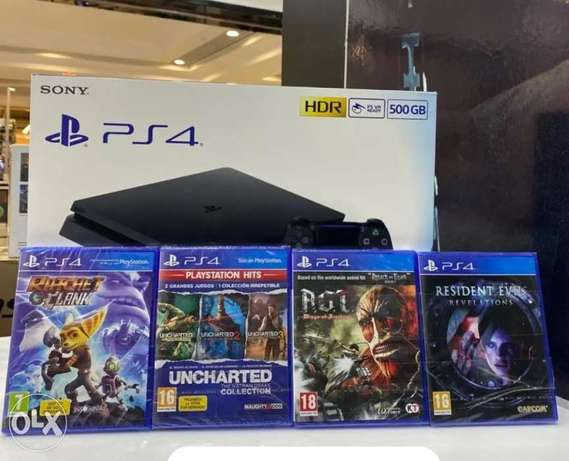 Ps4 500gb+4games package