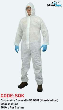 dISposAbLe CovErAll-50 gSm(Non -mediCaL)- vAultEx