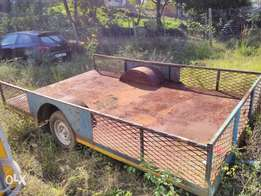 Trailer heavy duty single axle flat bed needs some tlc.R12000