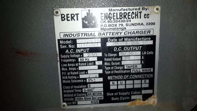 Industrial Battery Charger - Charges 6 Batteries at once Johannesburg CBD - image 2